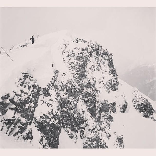 Ambassador Sierra Sawyer (@skisi1228) looking small but going big around #silvertonmountain. #sisterhoodofshred #bigfeatures #skiing #girlswhorip