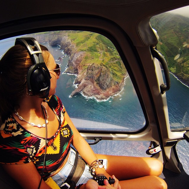 Photo of the Day! Helicopter ride over Maui. Photo by Kelee Bovelle.