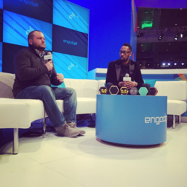 We're live at #CES with #rza. Taking over @Engadget. Announcing new products right now.