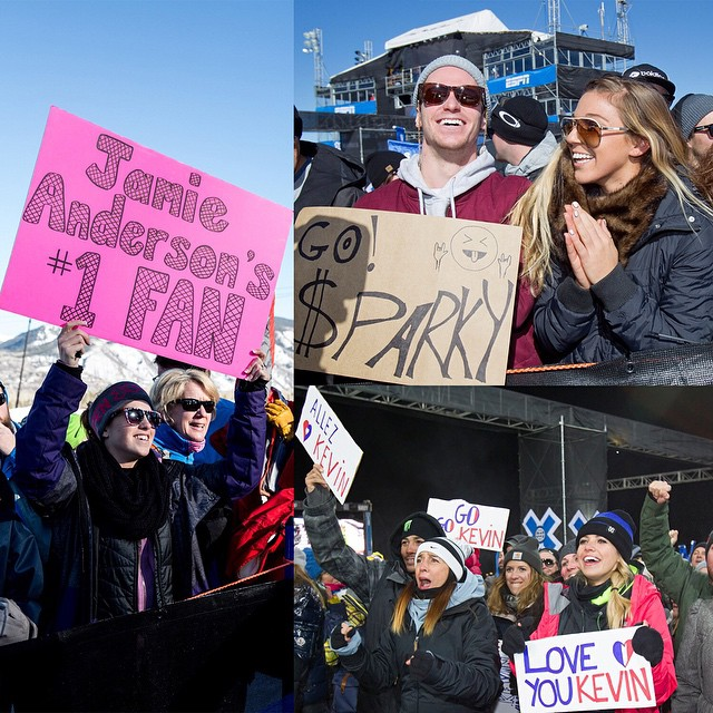 How To Have Fun at #XGames Aspen 2015:  1) Show up at @aspensnowmass with your best friends, Jan. 22-25.  2) Make a sign supporting your favorite athletes and musicians.  3) Go wild!