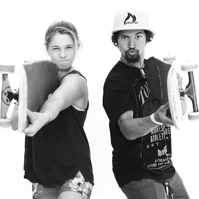 @jordynbarratt and @joshrodriguez91 mean business!! Only three hours left to check out our 2015 line up at @agendashow!
