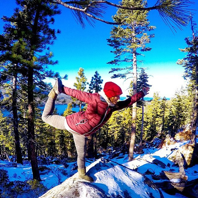 #TeamB4BC rider @ElenaHight is getting us all kinds of inspired to get outside and be active today with her #snowga moves!  How are you committing to the #behealthygetactive lifestyle today?