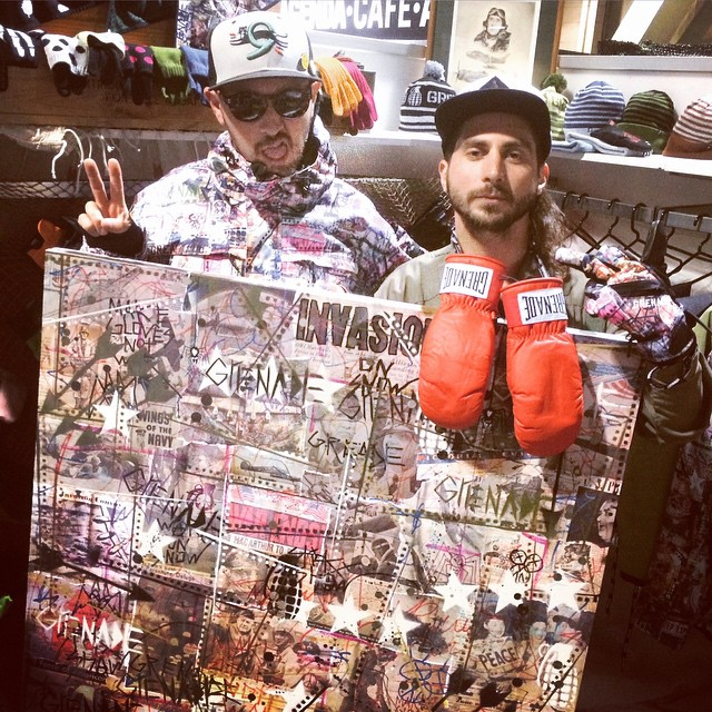 @dannykass @stickyshaw and the original piece of art for this next season's guest artist series #GAS