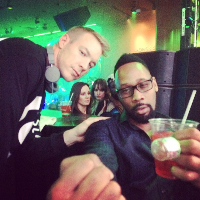 #rza and #diplo #letsgo #ces2015 #boombotix #crunk