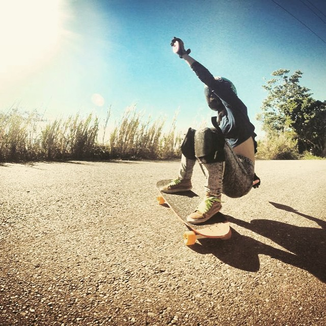 Go to www.longboardgirlscrew.com and check #DominicanRepublic rider @pamdiazz latest edit! Miguel Cabreja photo.  #longboardgirlscrew #girlswhoshred