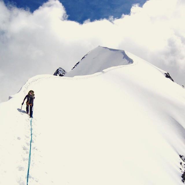 Snow line. Climbing Piz Bernina by Juraj Manduch. #openallwinter @adidasoutdoor