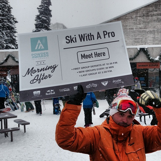 Come to the Tram Deck at @snowbird for the @powdermagazine Ski With a Pro event and learn about the @hi5sfoundation while helping athletes recover from life-altering injuries! #powderawards #itssnowing