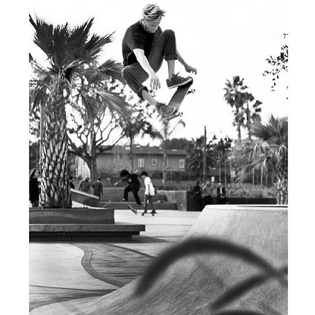 @chadbartie going frontside at the recently opened Encinitas park!  #getshakled