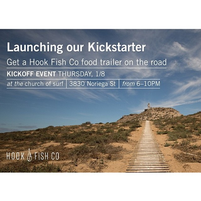 Remember those amazing fish tacos and poke burritos made by @hookfishco at #sloated?! They were f*!%ing good am I right? And local and responsible.  Come support their #kickstarter at the #churchofsurf on Thursday.  #oceanbeach #sanfrancisco...