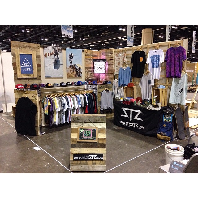 Setup is a wrap for @surfexpo | Day 1 tomorrow | Booth 2009 | #stzlife #surfexpo #orlando #wakeboard #skateboard #snowboard #surf