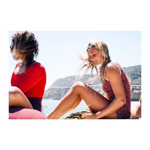 @melesaili wearing the Zuma one piece surf suit and @jenaylpeters wearing the Belmont Romper surf suit shot by @nick_lavecchia #myseealife #seeazuma #seeabelmont #sailing #seeababes