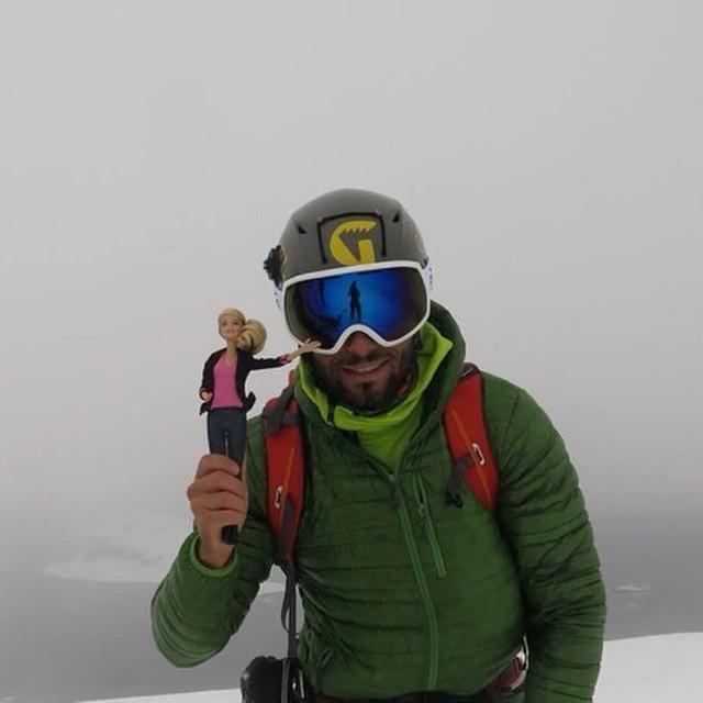 Team rider Mattia Zambroni in Antartica with his favorite girl!