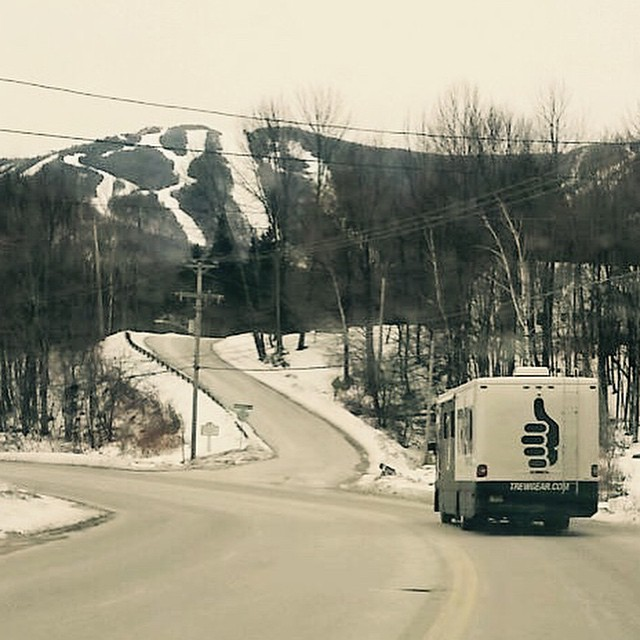 Leaving Killington on our way to @Ajsskiandsport in Stowe, Vermont! #trewtour #aintsheabeaut
