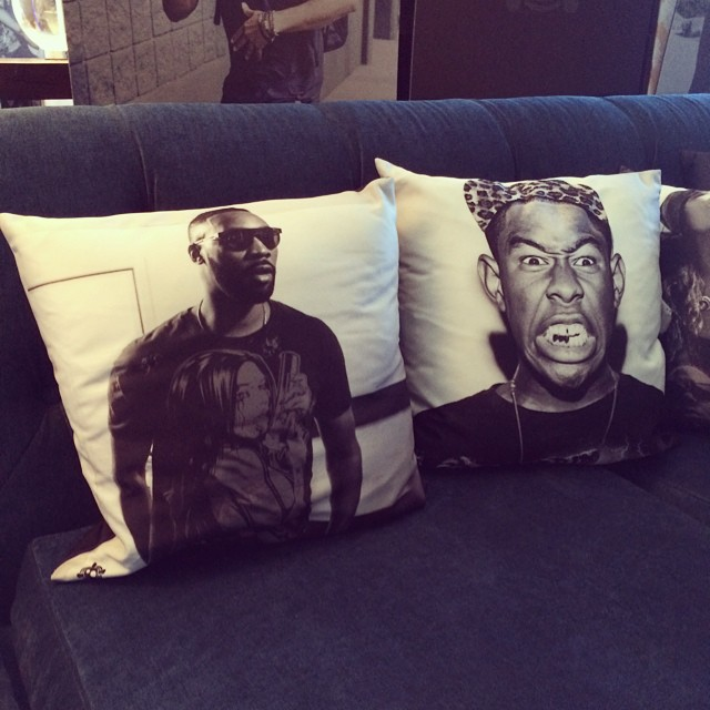 We've got #custom #pillows in the #Vegas #suite #tylerthecreator #rza #cosmopolitian
