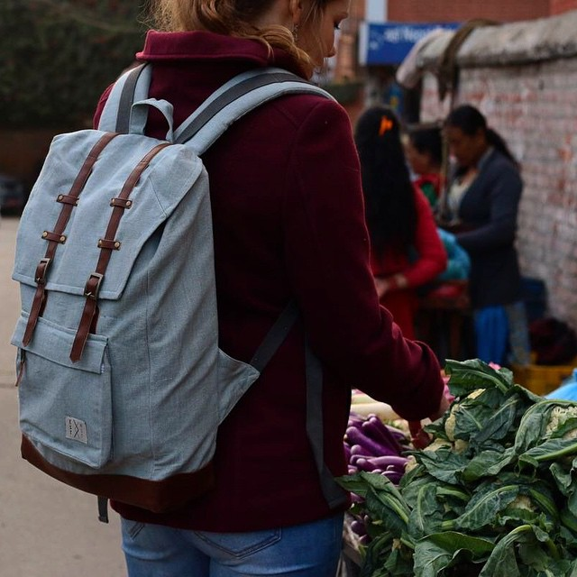 Consume consciously. Shop organic. #connectglobally #organic #canvas #rucksack #ecofashion #ethicalfashion
