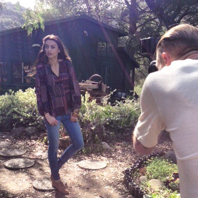 Looking back to a sunny day in Malibu shooting FW14.☀️#throwbackthursday #tbt #memories #photoshoot #bts #malibu #cali #LA #fw14 #winter