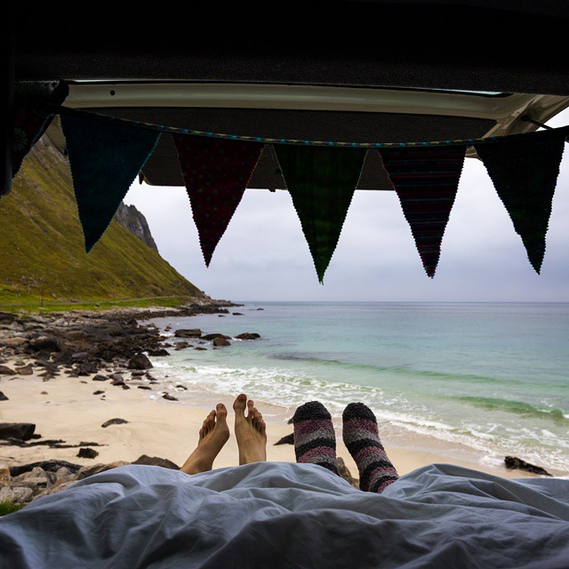 Sometimes where you wake up is more important than how you slept. #GetOutStayOut #vanlife  Photo: @vdubvanlife
