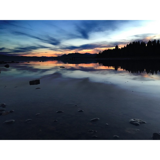 The sunset KILLED IT tonight. #thisistahoe #tahoemade