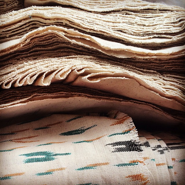 Fresh of the loom! Hand woven Ikat from our collective in rural India. Getting ready for our upcoming Spring/Summer collection. #fair #ethical #authentic #handwoven #ikat #india #consumeconsciously #connectglobally #estwst