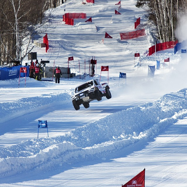 What happens when you put 900 Horsepower Trucks on a Ski Slope? Come find out. We're streaming LIVE at redbull.com/frozenrush or you can click the link in our profile. You can also fire up Red Bull TV on your Apple TV(pre-installed), Xbox 360, Amazon...