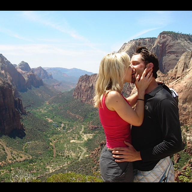 MadLuv!  Rad memories of our Girlfriend/Boyfriend days (before my injury) @ #AngelsLanding in Utah's #ZionNationalPark w/ @ettestudios, @eightysixthirtyone, & @pamkorgan!  Photo (taken & recently found by): #PamKorgan | MagicIsReal | #TeamMeinhold |...