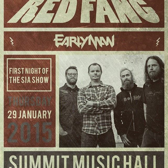 Yes. On my birthday too. #redfang #earlyman #bangyourhead