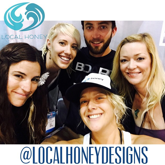 It's always 5 o'clock at the @localhoneydesigns booth at the @surfexpo! #surfexpo #margaritaville #love @bradley_hilton @theabominableheidimonster @andymay23 @calirainbow