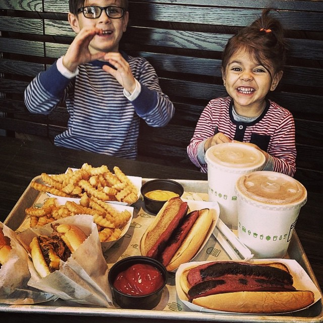 #shakeshack donated 20% of the day's sales to #STOKEDorg in celebration of our 10 year anniversary. We couldn't be happier to see Ryder and Paloma enjoying @shakeshack today. Their parents have been down with us since 2005. Thanks to all who came out...