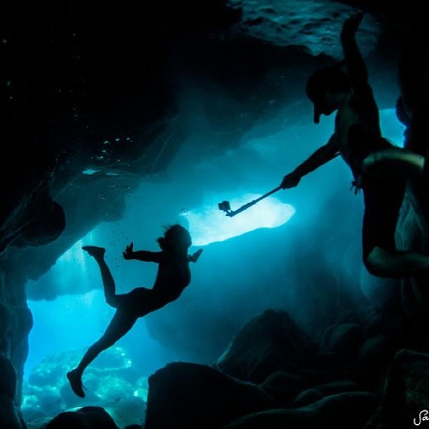 Underwater Indian-Anna Jones...err...I mean Alison @gopro adventures for ...#underwater #shananagins @jaycohn