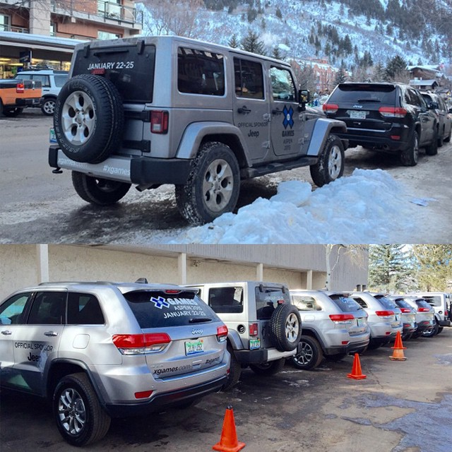If you see a Jeep in the streets of Aspen, it's probably us!  #XGames Aspen is 11 days away.