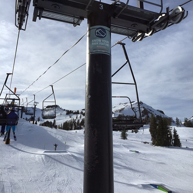 Our #knowyourpark symbols are up at @squawalpine. Find them on #Belmontpark and tag #knowyourpark!