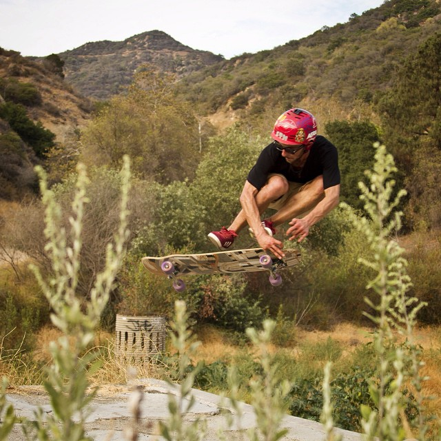 @camilocespedes just got back to LA! Here he is airing out of a ditch with a grab shovit #Overland