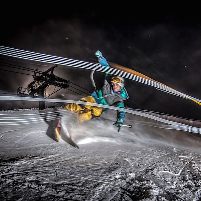 Where do you draw your lines? #bosky #lightpainting #nightskiing