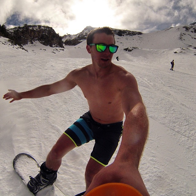 Epic GoPro selfie of @jus10ation as he surfs the snow while sporting the Bali Solo! #LifesABeach #ThisIsMyBeach #Kameleonz #Selfie #SurfExpo #SundaySelfie #GoPro #GoProSelfie Kameleonz.com