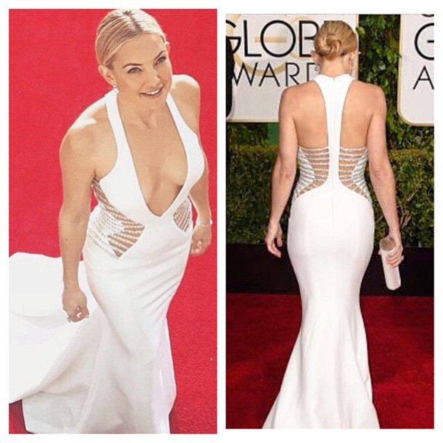 Game over. Who's doing #squats at the gym tomorrow?! #redcarpet #katehudson #goldenglobes #2015 #new #workout #nothingbutsquats