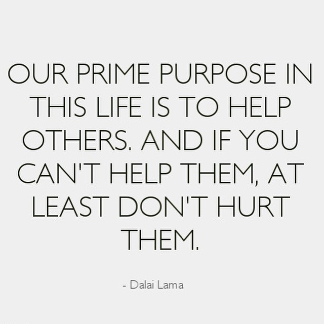 Happy #Monday!  What will  Y O U  do to help today? #mondaymantra #mondaymotivation #dalailama
