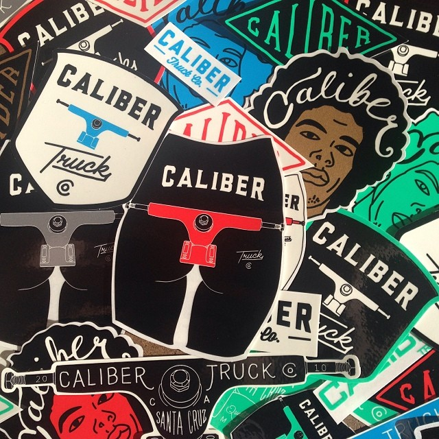 NEW STICKERS!!! We've got stacks of new stickers looking for helmets and boards to call home. Send us a SASE (self-addressed and stamped envelope) and get some for you and your homies!  Send us a SELF ADDRESSED and STAMPED envelope to:  Caliber Truck...