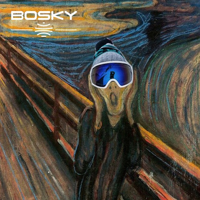 It's okay, the excitement is natural. Get your pair of bosky goggles today. #bosky #thescream #powder #bluebird