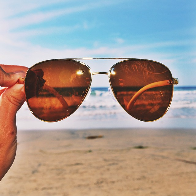 It's Monday, the Dewey is a great way to hide behind that post weekend shade. #hovenvision #neversettle #polarized #beach #surf #sup #aviator #california