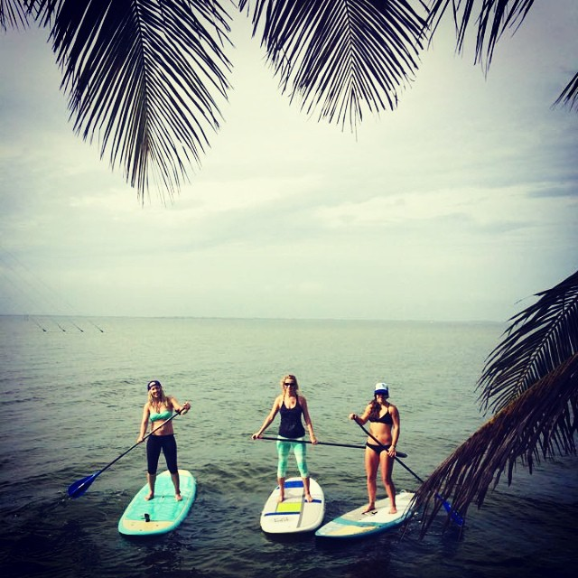 Morning paddle with @nautilussup @theabominableheidimonster and @calirainbow Thanks for the boards @boardworkssurfsup loving the 9'3 Kraken and Joyride boards! #localhoneydesigns #cocoabeach #sup #intercostal #bananariverresort #palmtrees #florida...