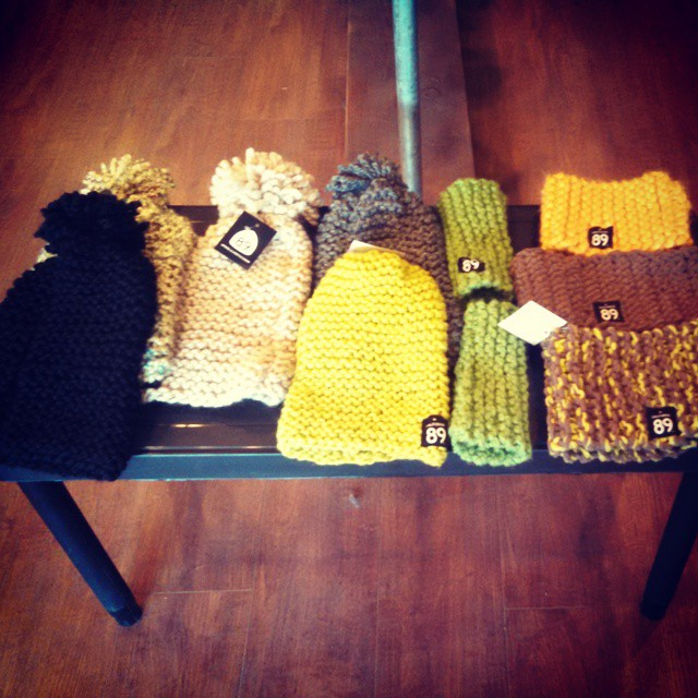 #Handmade beanies, headbands, and hand warmers. All #locallymade in #Tahoe. Between $30-40