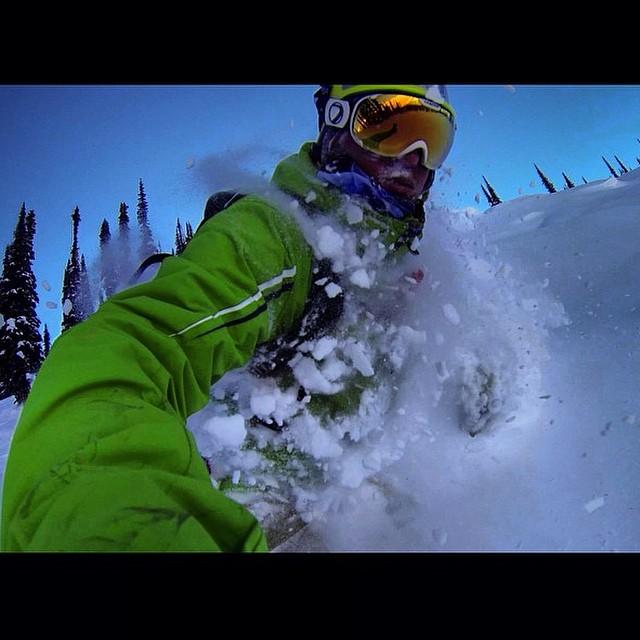 Team rider from #Canada @goldenrider420❄️#Frostyheadwear #Snow #Powder #Snowboarding