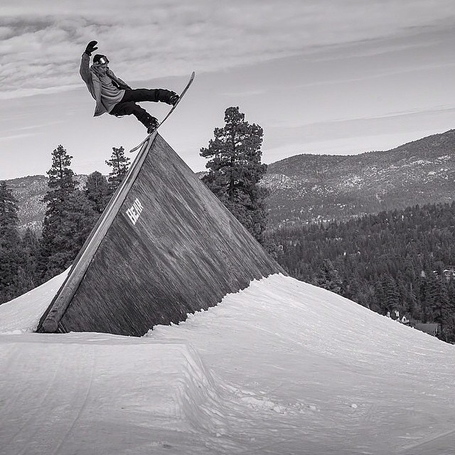 @jakeschaible at @bear_mountain getting up on the shark fun.