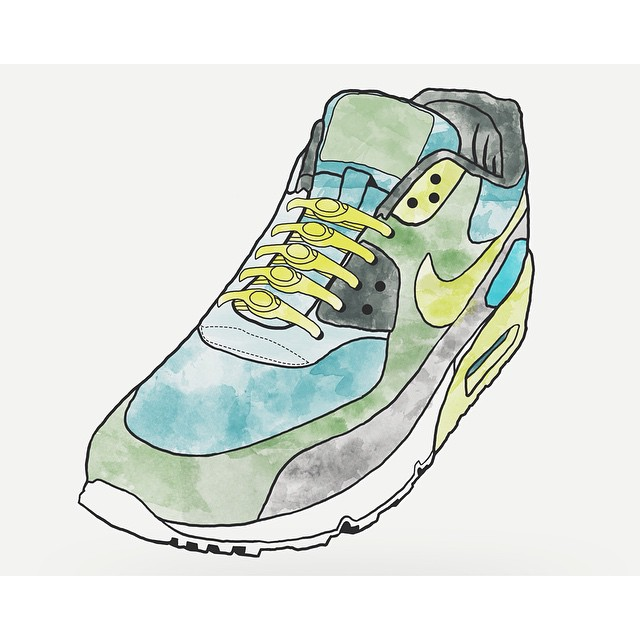 #HICKIESdesign: The Nike Air Max featuring our neon yellow HICKIES by the legend, Matt Rosenbach. #lacesoutHICKIESin #airmax