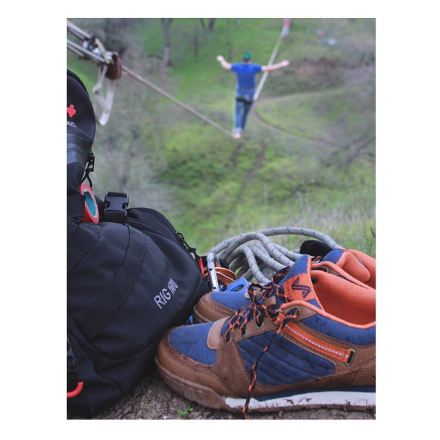 @handsomerobinson takes plenty of risks... Good thing choosing a pair of kicks doesn't have to be one of them. #getoutthere #adventureworthy