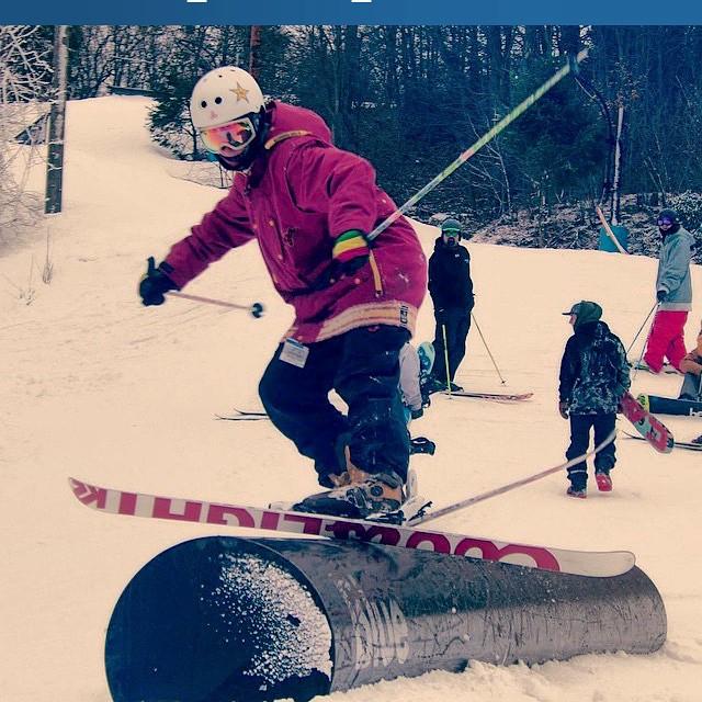 Courtesy Mike Alvarez photography #skiing #freeskiing #terrainpark