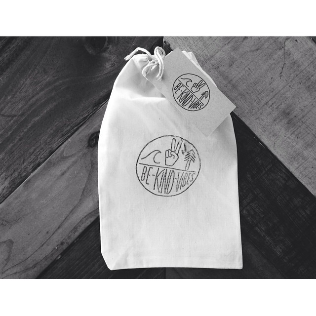 Our efforts in sustainability throughout the entire production process are always ongoing. These are our tote bags and hang tags. Each piece of our consciously crafted apparel is delivered in one of these reusable bags. Made by hand in California from...