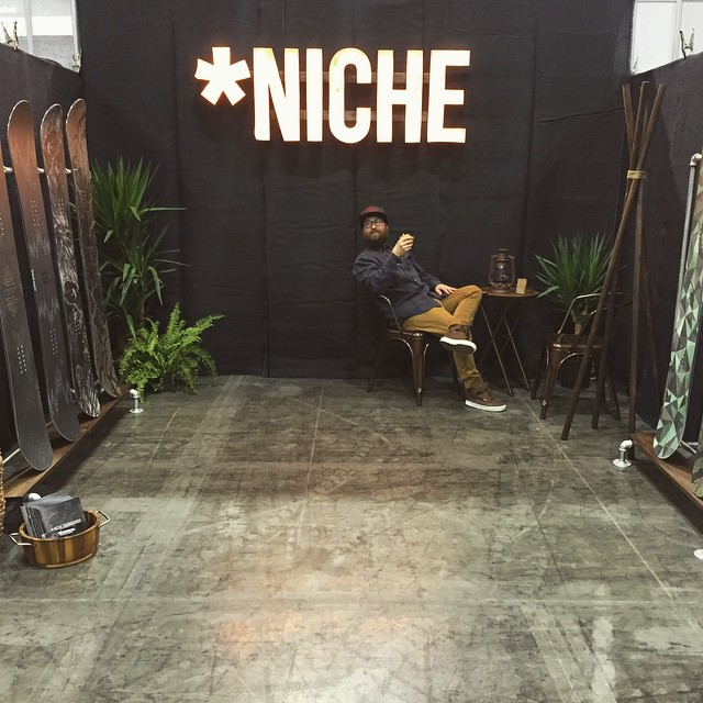 Today's the day! Come stop by booth #742 at #knwshw and check out the new 2015/16 #nichesnowboards lineup!