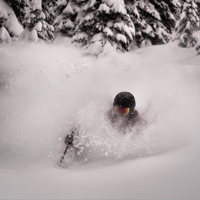 Panda Tribal Council member Mitch Young with frivolous Class 4DD #PANDALANCHE from couple weeks ago near Whitefish, MT... Promo code PANDAMONIUM 10% OFF!  Photo: Pete Siudara  #PandaPoles #TribeUP!