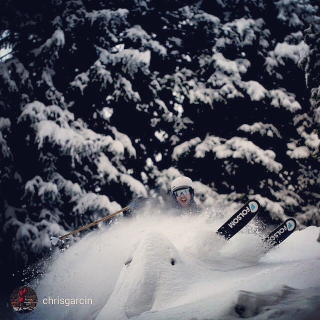 @pit_viper  exec and long time Folsom shredder, @chrisgarcin , showing us current conditions @altaskiarea